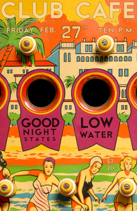 Club Cafe Flyer Low Water and Good Night States Pittsburgh 2/27/09